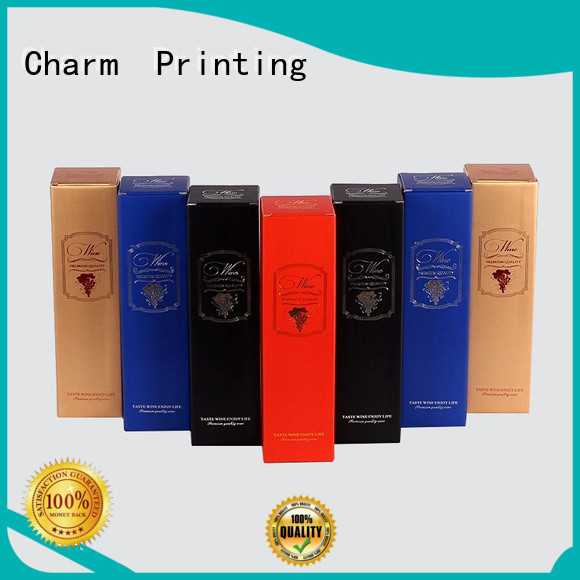 CharmPrinting personalized wine gift box luxury design wine packaging