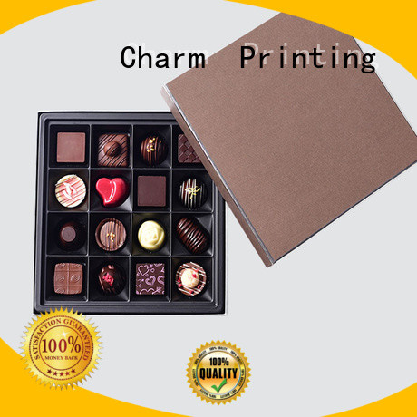 CharmPrinting luxury chocolate packaging box thick for chocolate box