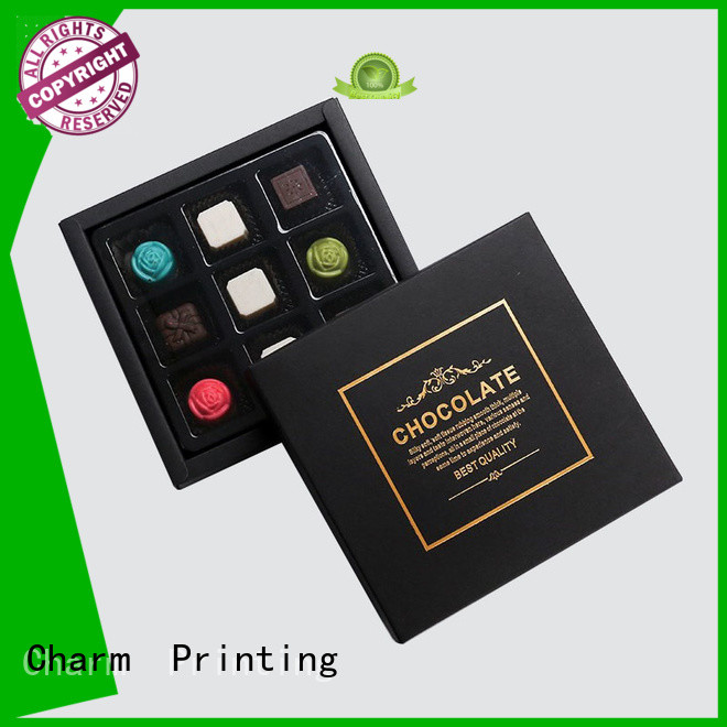 custom lid chocolate packaging box foil stamping for chocolate box