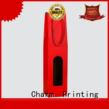 CharmPrinting personalized wine gift box handmade wine packaging