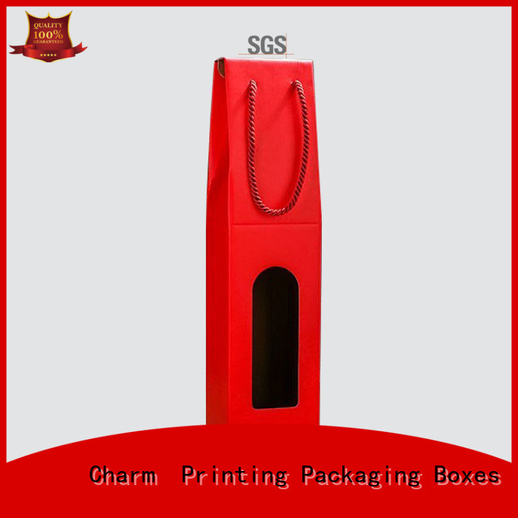 Custom Corrugated Wine Box with Handle