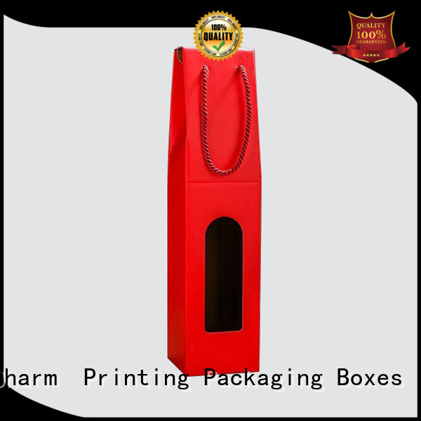 CharmPrinting colorful card wine packaging box manufacturer alcohol packaging