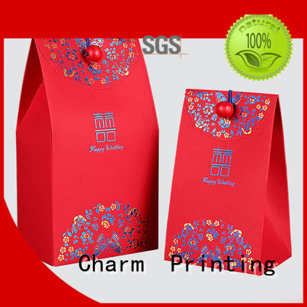 Charm Printing favor boxes for wholesale for wedding packaging