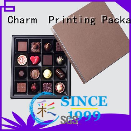 CharmPrinting chocolate packaging thick gift box