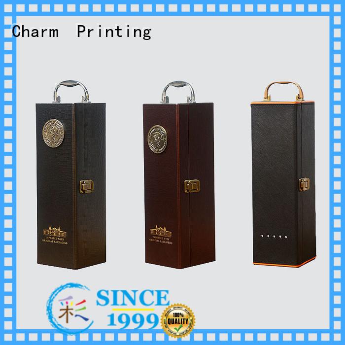 CharmPrinting wine packaging box luxury design wine packaging