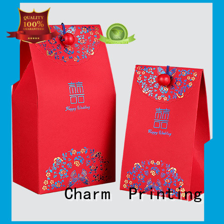 CharmPrinting art paper favor boxes for wholesale for wedding packaging