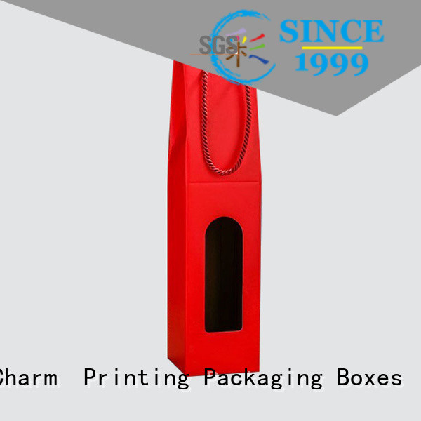 CharmPrinting corrugated wine gift box handmade food packaging