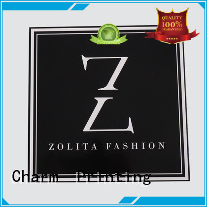 CharmPrinting fashion design clothing packaging boxes white paperboard for gift
