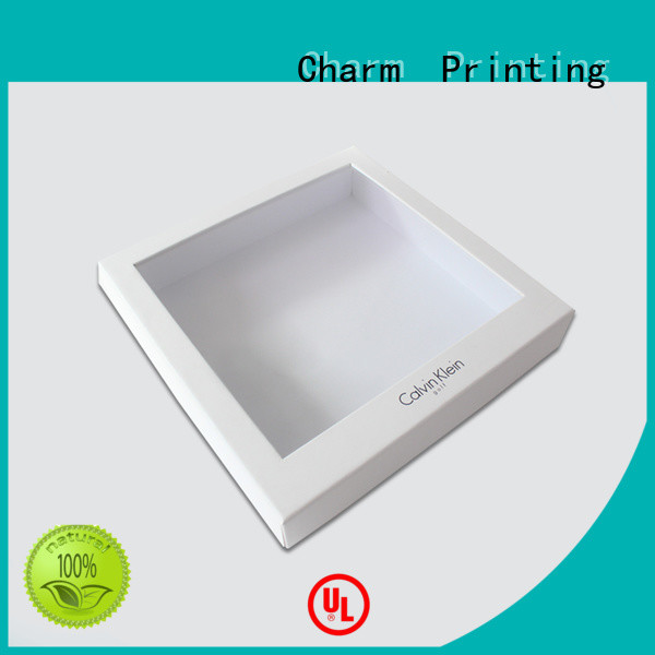 Charm Printing clothing packaging boxes handmade for apparel