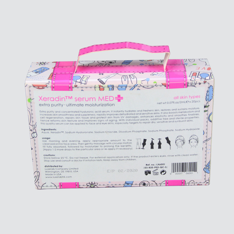 Custom Cosmetic Colorful Card Box with UV Pattern
