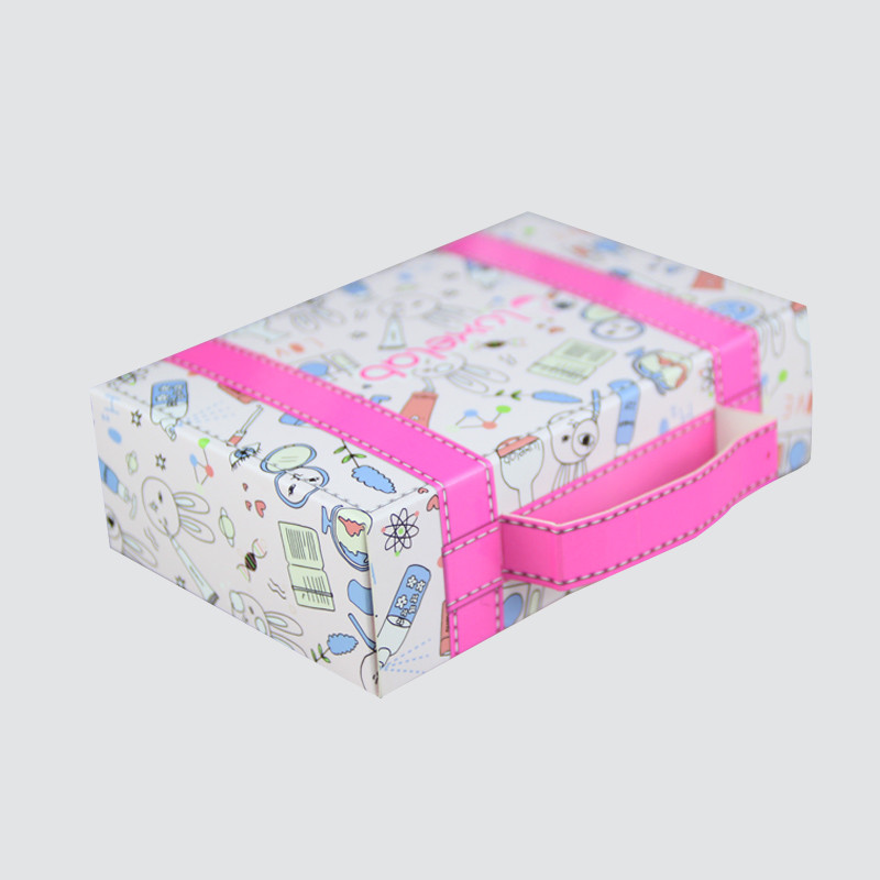 coloful cosmetic packaging box offset printing shop promotion