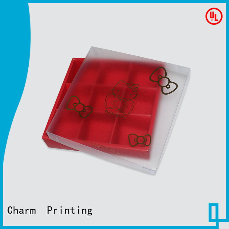 Charm Printing custom lid chocolate box automatic slide luxury box