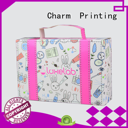 Charm Printing customized cosmetic box high quality shop promotion