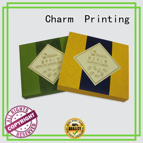 CharmPrinting special shape gift box high quality for food box