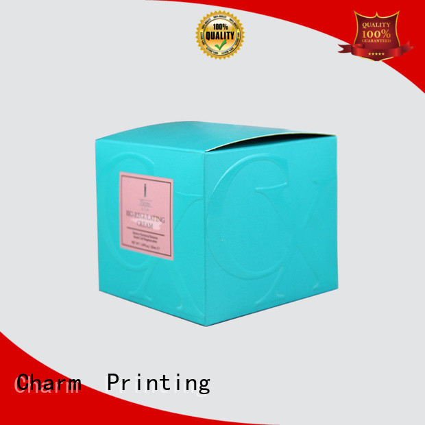 CharmPrinting cosmetic packaging box offset printing shop promotion