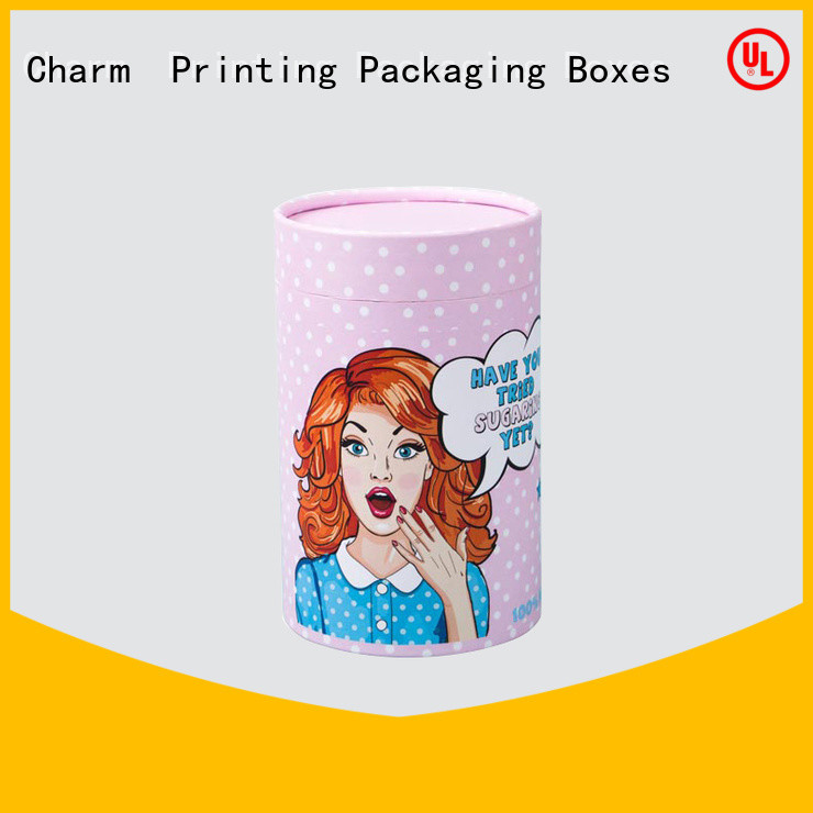CharmPrinting fashion design apparel packaging boxes white paperboard for apparel