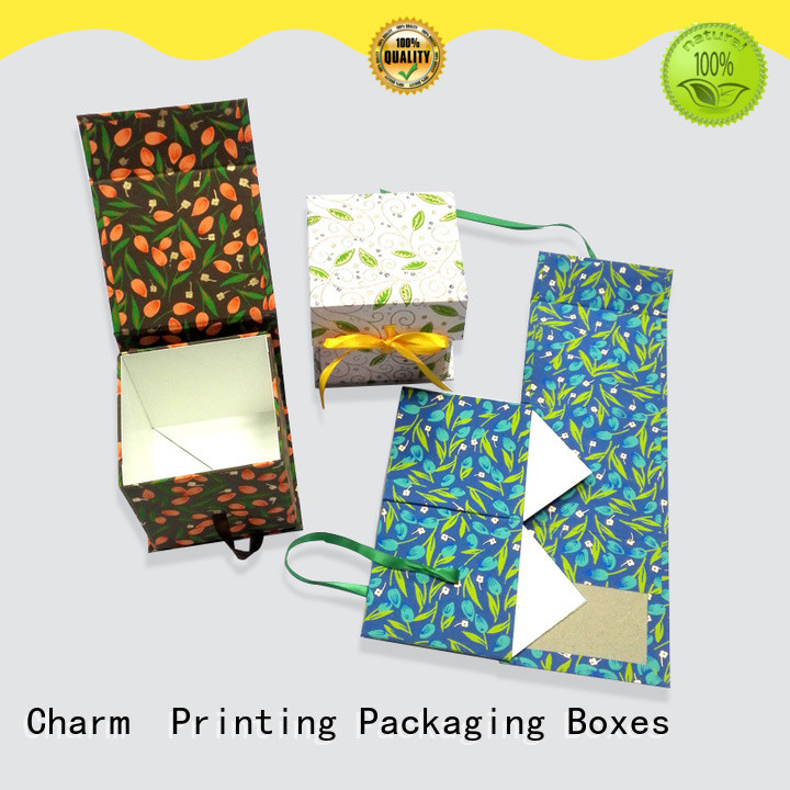 Charm Printing magnet gift box factory price for packaging