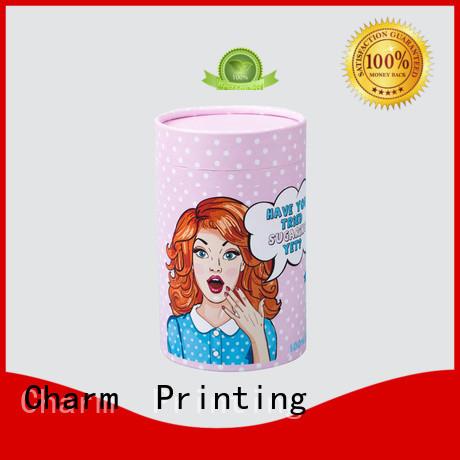 Custom logo cardboard paper cylinder packaging box