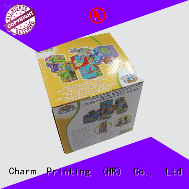 Charm Printing custom toy packaging buy now corrugated Box