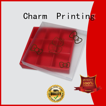 custom lid luxury chocolate gift box foil stamping for chocolate box Charm Printing