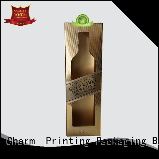 Charm Printing wine gift box luxury design alcohol packaging