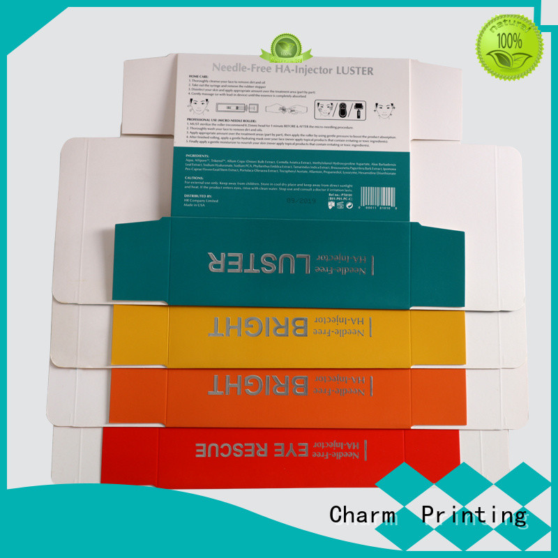CharmPrinting cosmetic box uv printing shop promotion