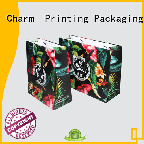 Charm Printing paper gift bags on-sale for shopping bag