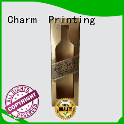 Charm Printing colorful card wine packaging box luxury design food packaging
