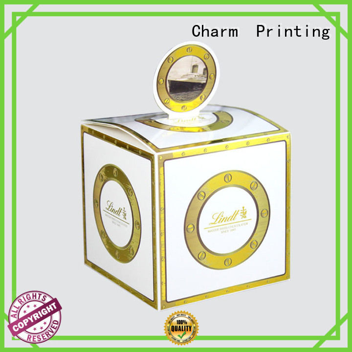 CharmPrinting booklet favor boxes creative design for wedding packaging