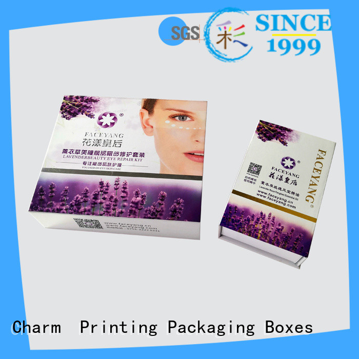 Charm Printing handmade cosmetic packaging box offset printing gift package
