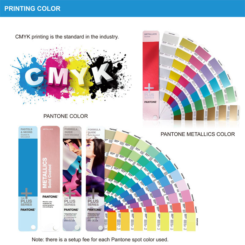 coloful cosmetic packaging offset printing storage