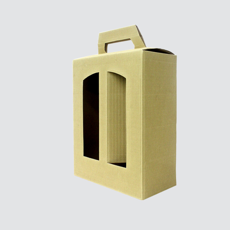 Custom corrugated wine gift  boxes