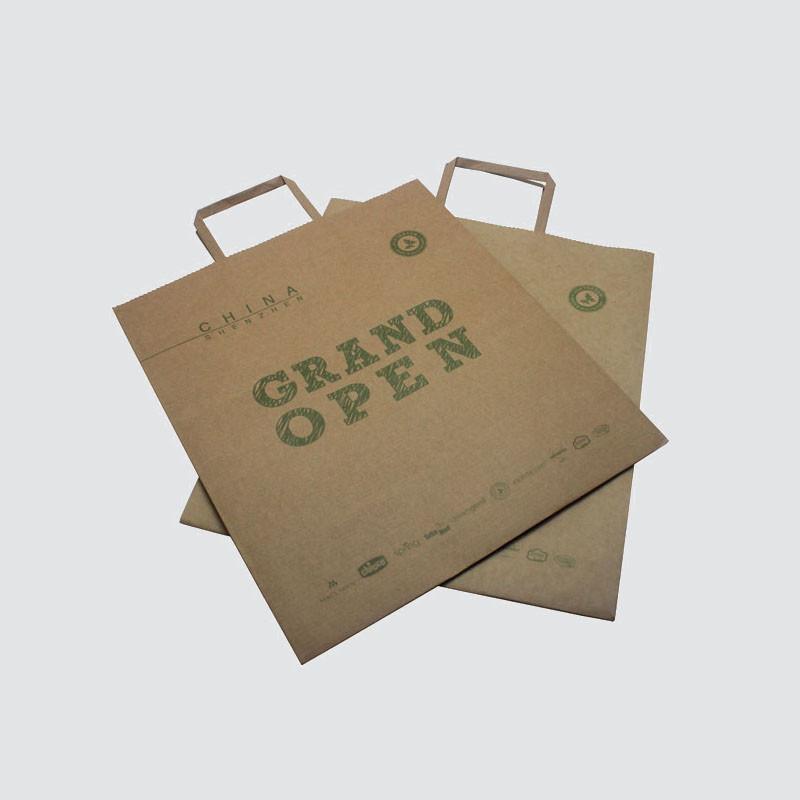Custom karft paper bag with handle