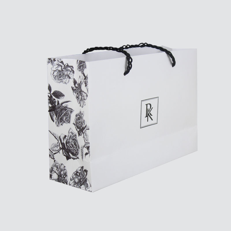 Custom shopping gift paper bag with handle