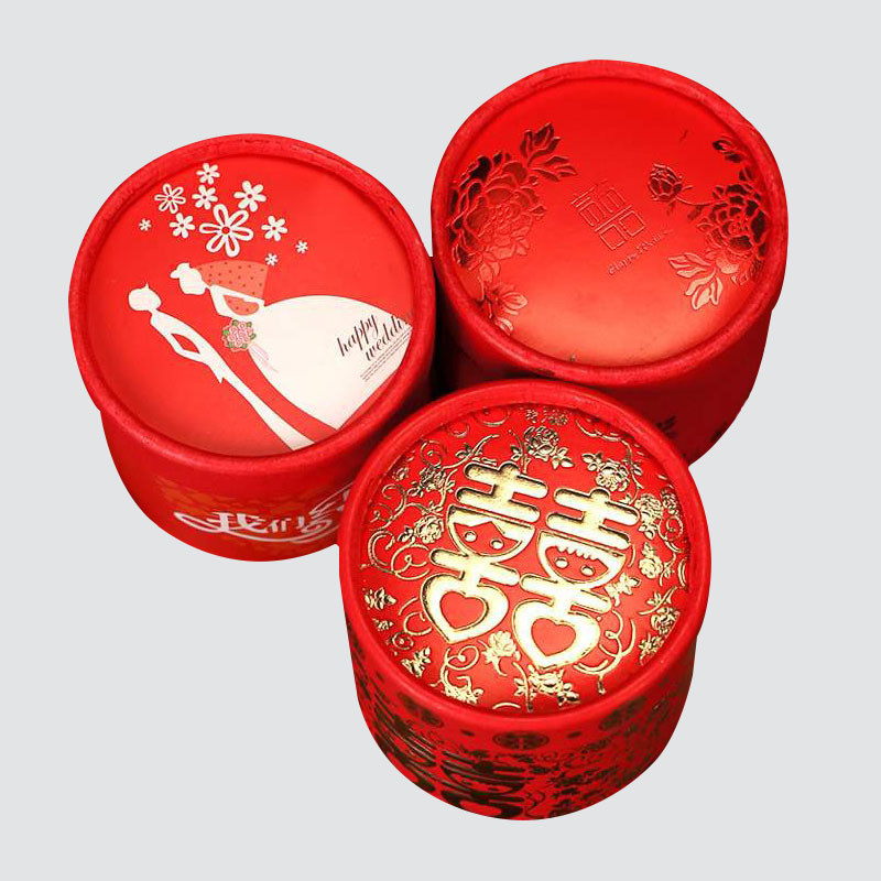 Beautiful Colorful cylinder  Box for Wedding packaging
