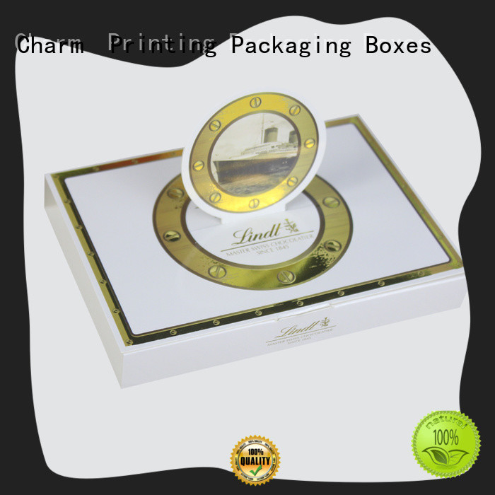 CharmPrinting custom lid chocolate packaging thick for chocolate box