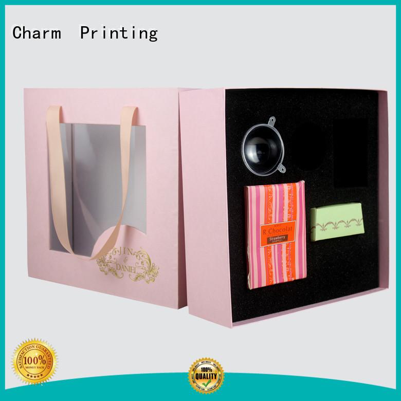 CharmPrinting drawer type cardboard gift boxes base box gift box