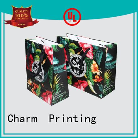 CharmPrinting paper shopping bags fashion design for gift box