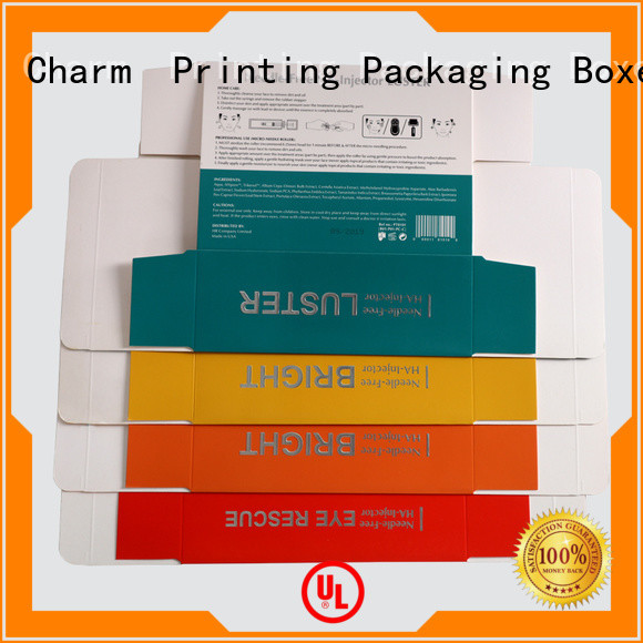 Charm Printing cosmetic packaging box high quality shop promotion