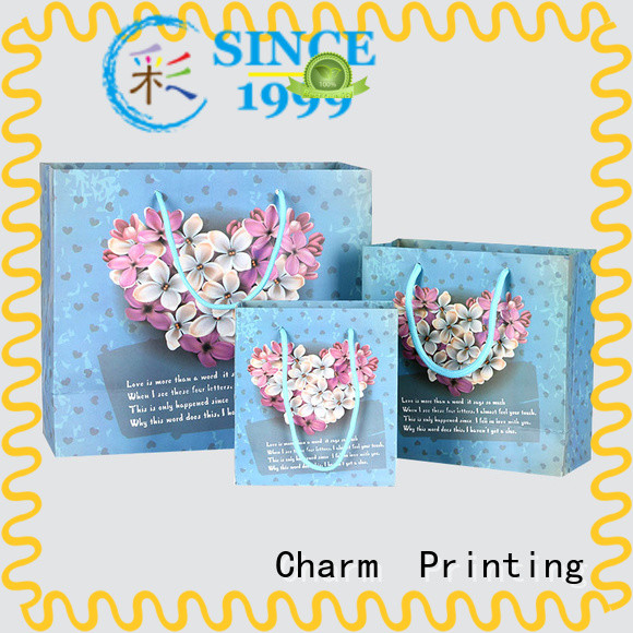 Charm Printing custom paper gift bags latest for gift box