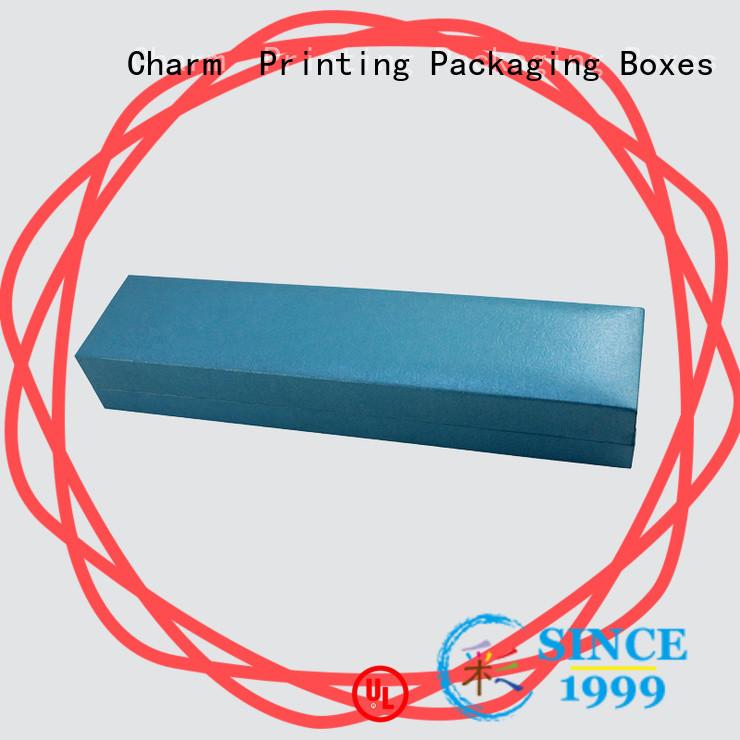 CharmPrinting custom jewelry box luxury design for jewelry packaging