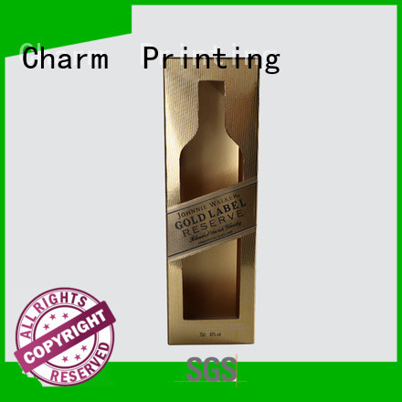 Charm Printing personalized wine packaging box manufacturer alcohol packaging