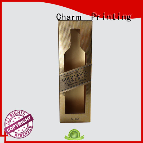 CharmPrinting colorful card wine packaging box manufacturer wine packaging