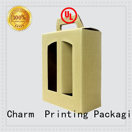 CharmPrinting wine gift box handmade wine packaging