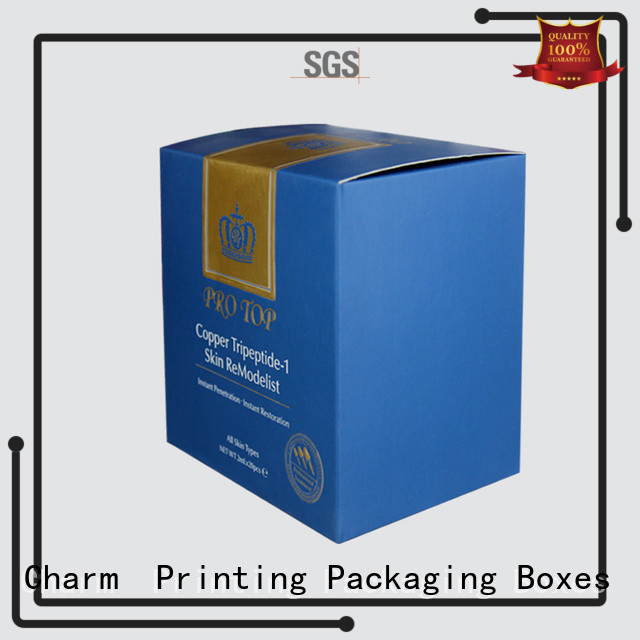 Charm Printing customized cosmetic packaging offset printing storage
