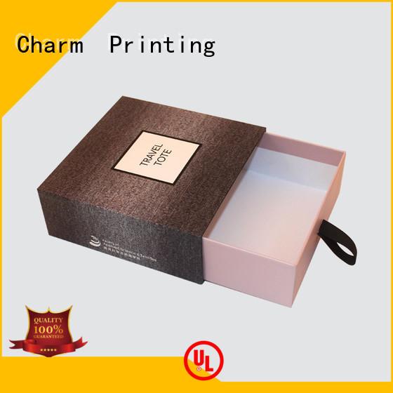 CharmPrinting with ribbon perfume packaging box free sample fragrance