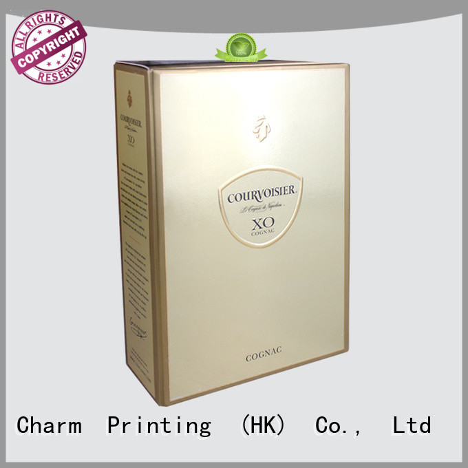 CharmPrinting personalized paper wine gift boxes wine packaging