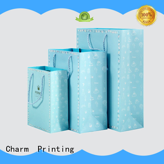 CharmPrinting paper shopping bags latest for gift box