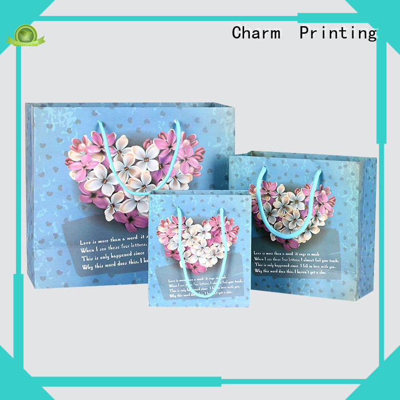Charm Printing high-quality paper bag fashion design for shopping bag