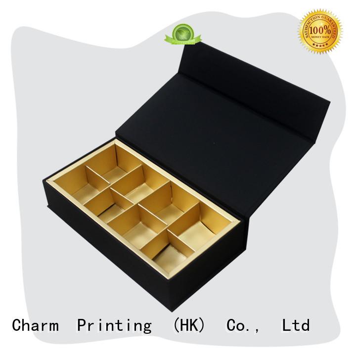 CharmPrinting book shape chocolate packaging automatic slide luxury box